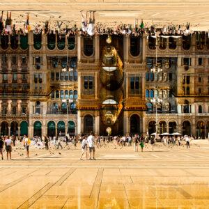 Milano. La piazza del Duomo